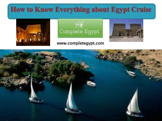 How to Know Everything about Egypt Cruise