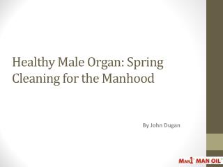 Healthy Male Organ: Spring Cleaning for the Manhood