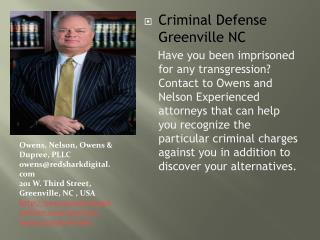 Criminal Defense Lawyer in Greenville, NC