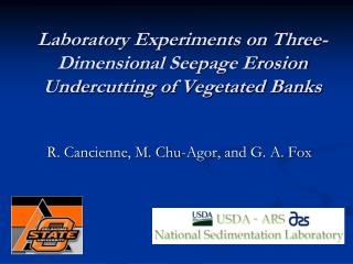 Laboratory Experiments on Three-Dimensional Seepage Erosion Undercutting of Vegetated Banks