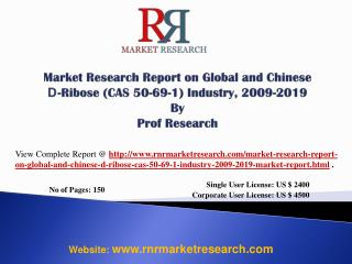 D-Ribose Industry Global and China 2019 - Manufacturing Tech