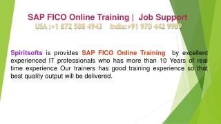SAP FICO Online Training | SAP FICO Job Support