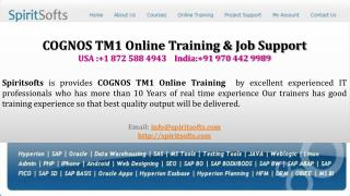 COGNOS TM1 Online Training | COGNOS TM1 Job Support