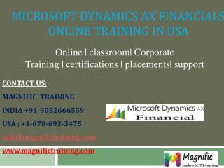 ms dynamics ax financial online training in uk