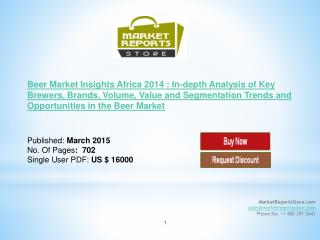 Beer Market Africa: New Market Research 2014