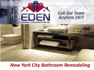 New York City Bathroom Remodeling