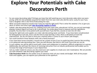 cake decorating supplies perth