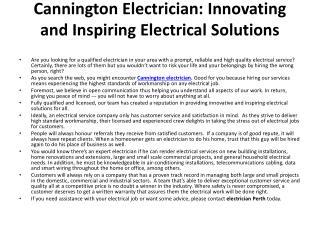 Cannington Electrician