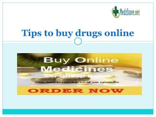 Tips to buy drugs online