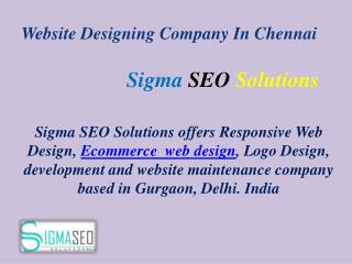 Website Designing Company In Chennai