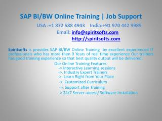 SAP BI/BW Online Training | SAP BW Job Support