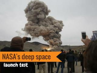 NASA's deep space launch test