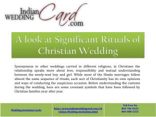 Rituals of Christian Wedding
