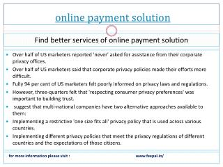 The importance of fee online payment solution system