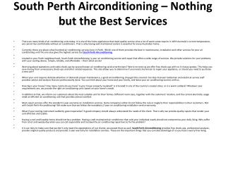 South Perth Air Conditioning