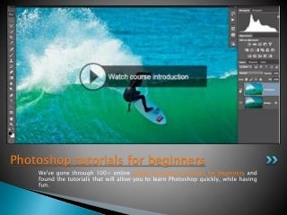Photoshop tutorials for beginners