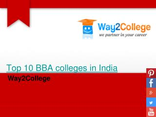 Top 10 bba colleges in india- way2 college