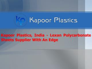Lexan Polycarbonate Sheet Supplier In India