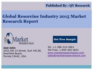 Global Resorcine Industry 2015 Market Analysis Survey Resear