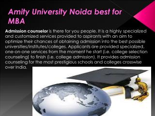 Amity University Noida best for MBA