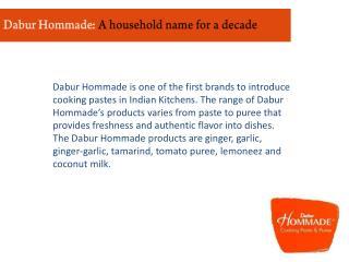 Dabur Hommade: A household name for a decade