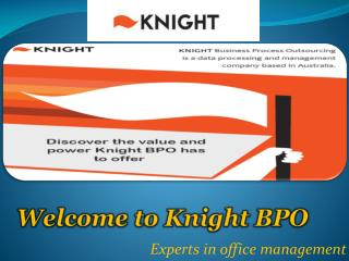 Outsourced Bookkeeping and Accounting Solution by Knight BPO