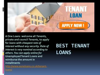 Best Tenant Loans