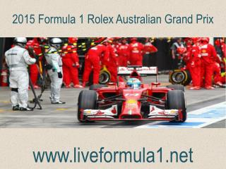 WATCH Formula one Australian Grand Prix  Live Stream
