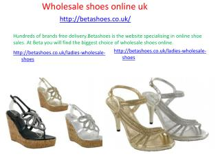 Men footwear wholesale uk