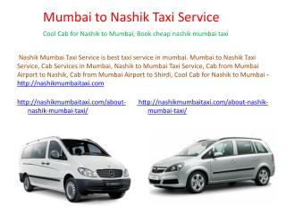 Cab from Mumbai Airport to Nashik