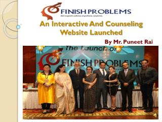 An Interactive and counseling website launched