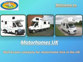 Motorhome Hire by Motorhomes UK