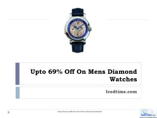 Upto 69% Off On Mens Diamond Watches