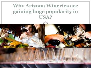 Why Arizona Wineries are gaining huge popularity in USA