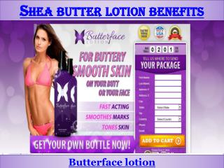 Shea butter lotion benefits