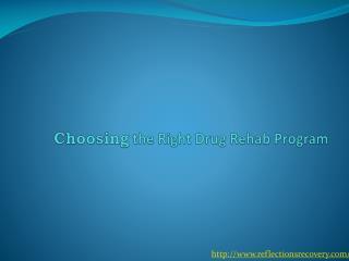 Choosing the Right Drug Rehab Program