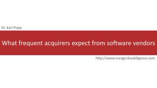What frequent acquirers expect from software vendors