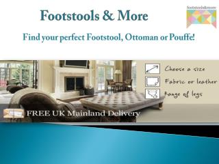 Importance of footstools