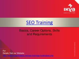 SEO Training in Hyderabad - Ikya Global Edu