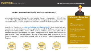 What You Need to Know About garage door opener repair And Wh