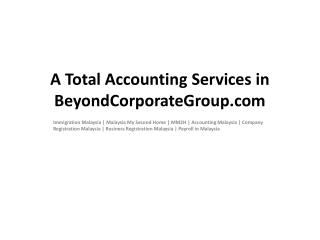 A Total Accounting Services in BeyondCorporateGroup.com