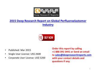 Global Perfluoroelastomer Market by Research on World Produc