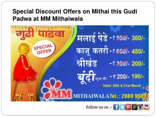 Special Discount Offers on Mithai this Gudi Padwa at MM Mith