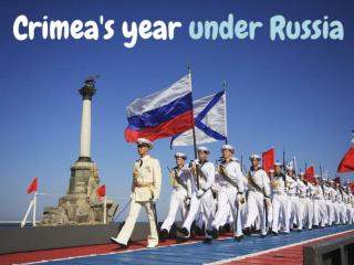 Crimea's year under Russia