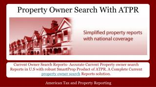 Property Owner Search with ATPR