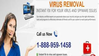 1-888-959-1458 Removal Of Virus From System (Help Guide)