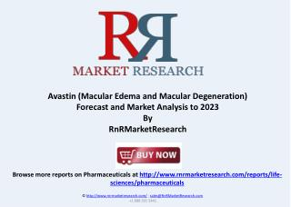 Avastin Macular Edema and Degeneration Forecast to 2023