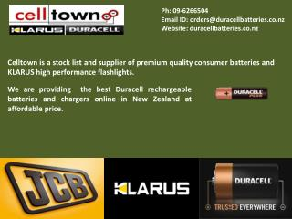 Klarus Flashlights Duracell | Rechargeable Batteries