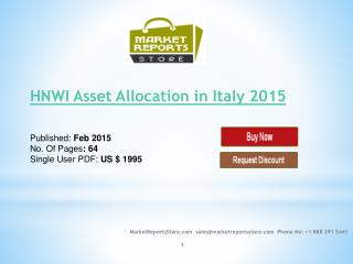 HNWI Asset Allocation in Italy 2015 : New research