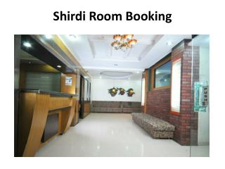 Room Booking in Shirdi